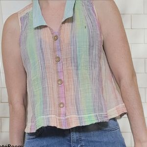 HOLDING HORSES anthropologie button down top